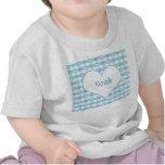 Camiseta en colores pastel del bebé de los corazon