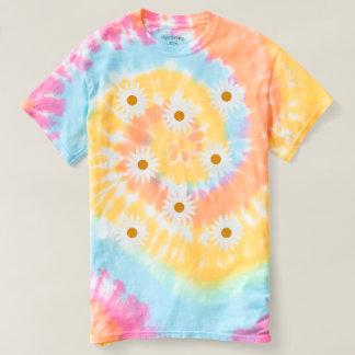 Camiseta en colores pastel del teñido anudado del poleras