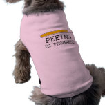 Camiseta en curso de pis del bebé ropa perro