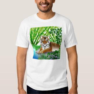 Camiseta en peligro del tigre de Sumatran Playera
