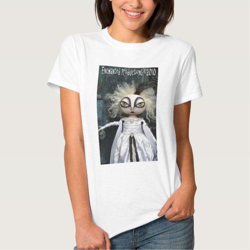 Camiseta encantada de la muñeca del fantasma de la playeras
