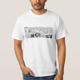 Camiseta enérgica de la inmersión del buñuelo