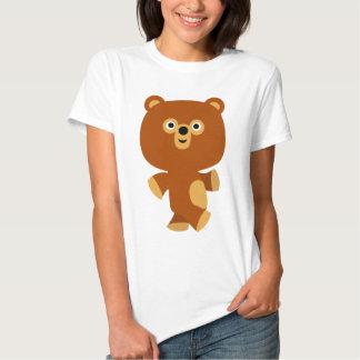Camiseta enérgica linda de las mujeres del oso del remera