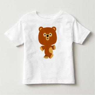 Camiseta enérgica linda de los niños del oso del camisas