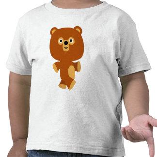 Camiseta enérgica linda de los niños del oso del