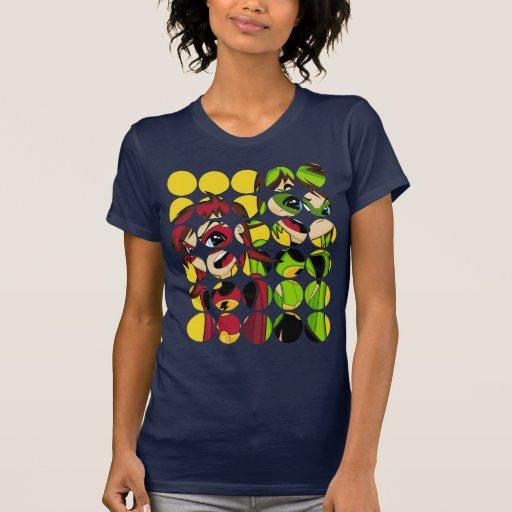 Camiseta enmascarada del chica del super héroe