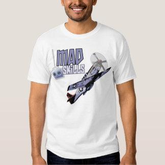 Camiseta enojada de las habilidades camisas