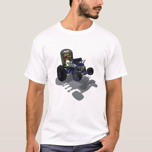 Camiseta enojada del cerebro de las ruedas