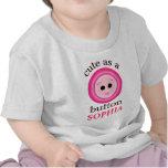 Camiseta/enredadera lindas de encargo de la niña