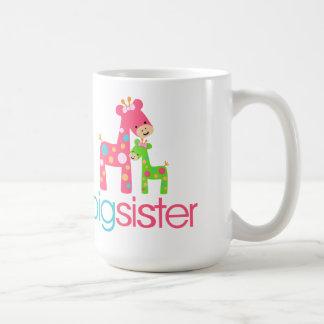 Camiseta enrrollada de la hermana grande de la jir taza básica blanca
