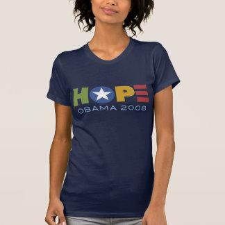 Camiseta enrrollada del corazón de Obama Polera
