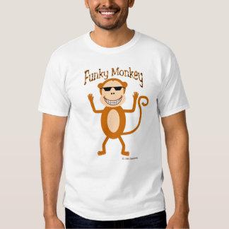 Camiseta enrrollada del mono playeras