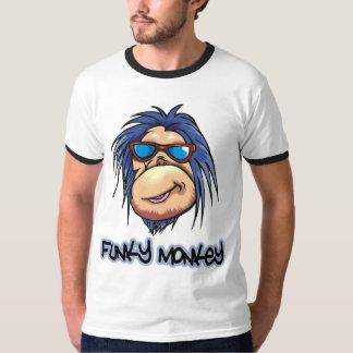 Camiseta enrrollada del mono poleras