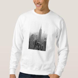 Camiseta envuelta larga para hombre del estado del sudadera con capucha
