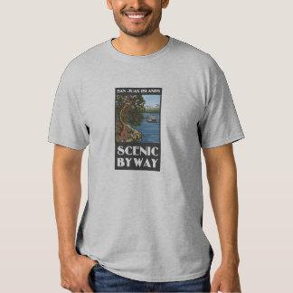 Camiseta escénica del camino apartado de las islas poleras