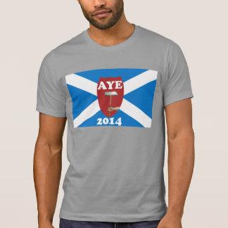 Camiseta escocesa de la bandera de la independenci