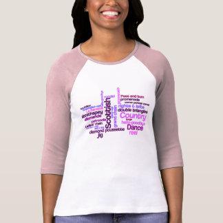 Camiseta escocesa de la danza popular polera