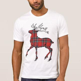 Camiseta escocesa de los ciervos del tartán (de St Remeras