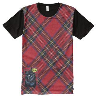 Camiseta escocesa del arte del amante del gato del