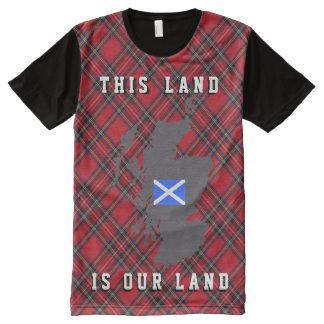 Camiseta escocesa del mapa de la reforma agraria