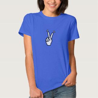 Camiseta escocesa del signo de la paz de la poleras