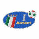 Camiseta especial de la bandera de Forza Azzuri It Sudaderas Embordadas