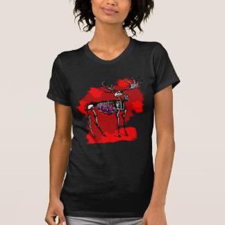 Camiseta esquelética de los ciervos (para mujer)