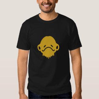 Camiseta esquelética del negro del hombre de la remera