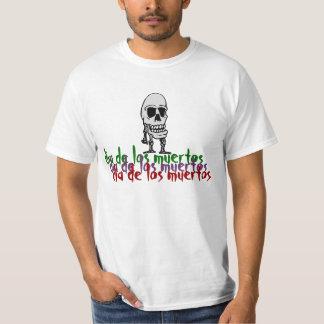 Camiseta esquelética feliz de Dia De Los Muertos Remera