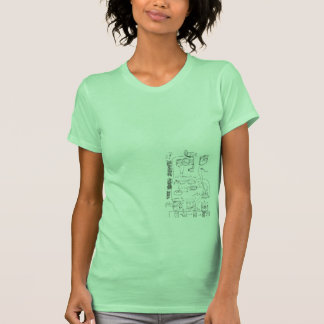 Camiseta esquemática de la estufa del hobo playera