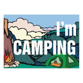 CAMISETA estoy acampando Plantillas De Tarjetas Personales