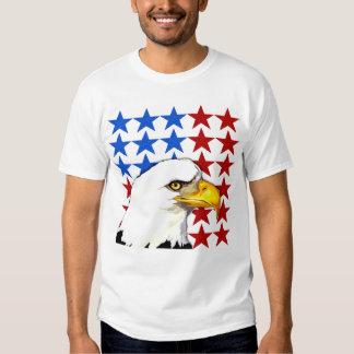 Camiseta - estrellas americanas de Eagle calvo Camisas