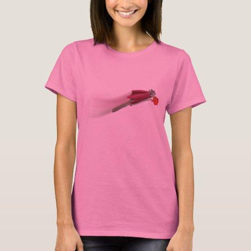 Camiseta estupenda de la ardilla w/heart