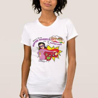 Camiseta estupenda de la niñera playera