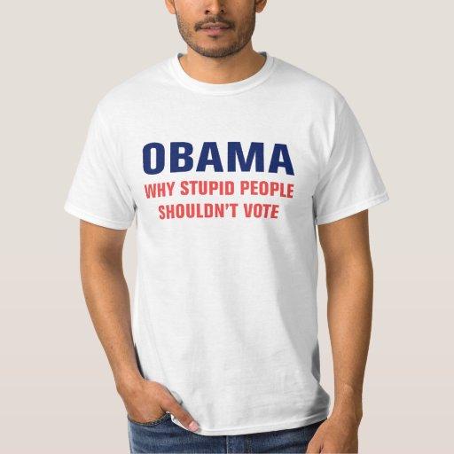 Camiseta estúpida de la gente polera