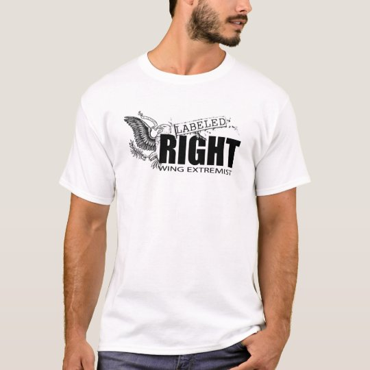 Camiseta ETIQUETADA del EXTREMISTA de la DERECHA