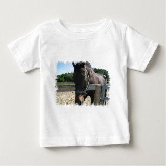 Camiseta excelente del bebé del caballo de la polera