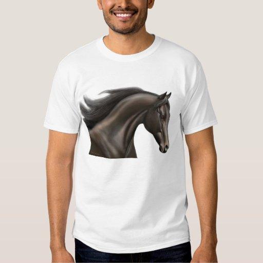 Camiseta excelente del caballo de raza playeras