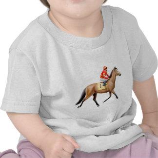 Camiseta excelente del niño del caballo de carrera