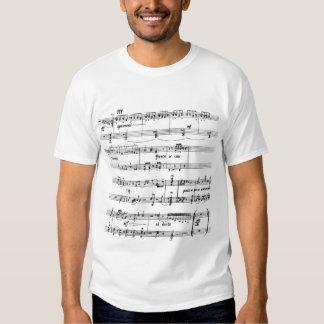 Camiseta exhausta de la música remeras