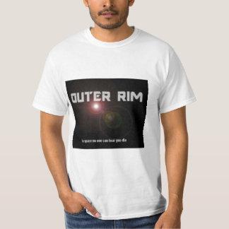 Camiseta externa del borde