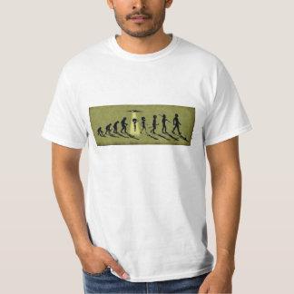 Camiseta extranjera de la evolución playeras