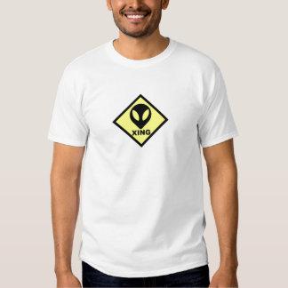 Camiseta extranjera de la muestra de la travesía playera