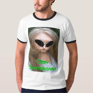 Camiseta extranjera del monopatín de Ozzy Playera