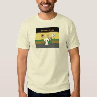 """Camiseta extranjera del """"truco o de la invitación"""" poleras"""