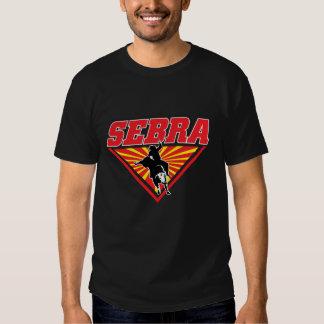 Camiseta extrema del logotipo del montar a caballo playera