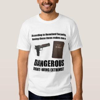 Camiseta extremista de la derecha peligrosa remera