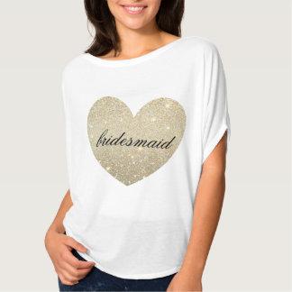 Camiseta fabulosa de la dama de honor del corazón poleras