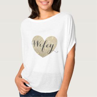 Camiseta fabulosa de Wifey del corazón Playera