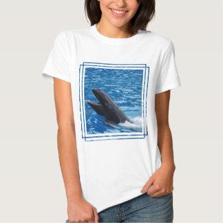 Camiseta falsa de las señoras de la orca playeras